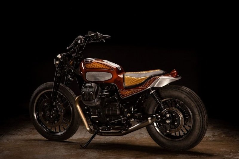 Кастом-байк Morning Glory на базе Moto Guzzi V9 Roamer от компании Revival Cycles