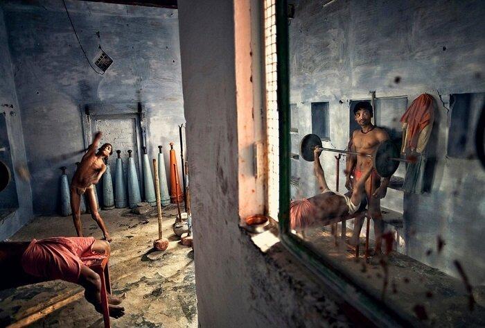 4. Тренировка борцов, Варанаси (Индия) конкурс, фото, это интересно