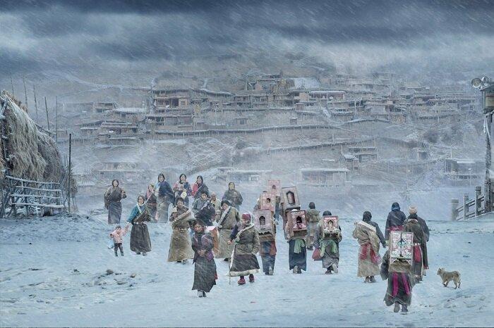 9. Паломники монастыря Лабранг, Ганьнань (Китай) конкурс, фото, это интересно