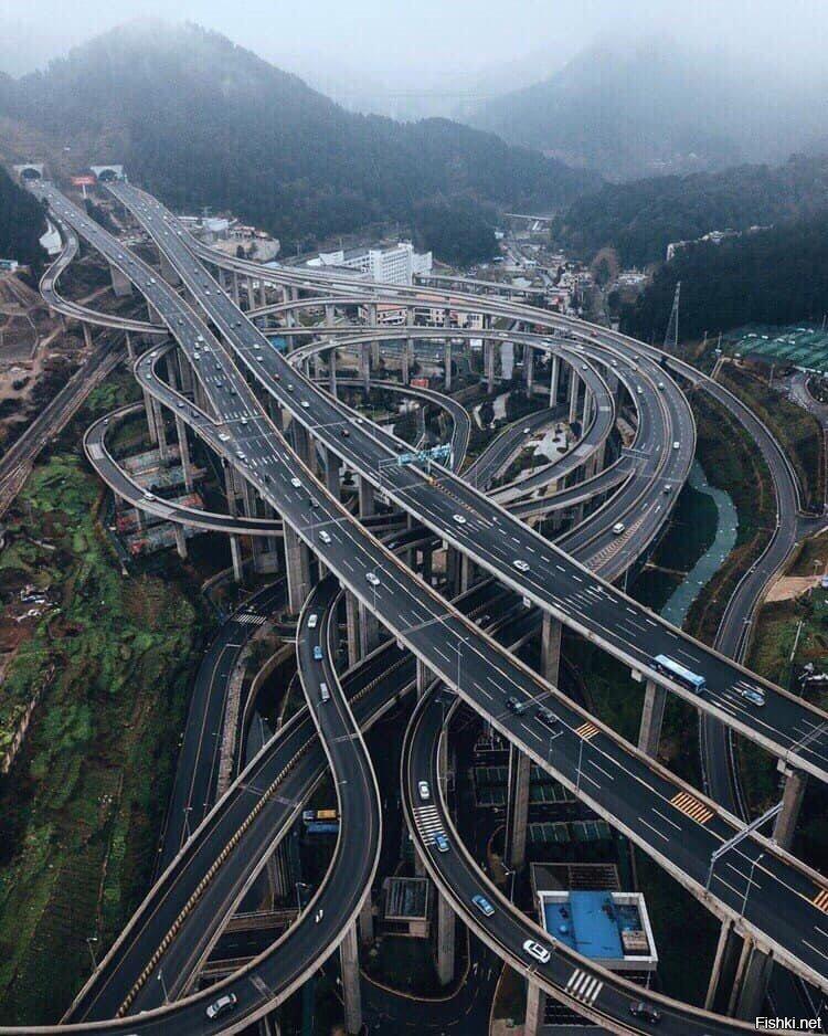 многоуровневые развязки в китае фото эталонным свойствам