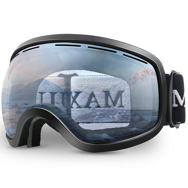 3. Противотуманные очки с двухслойной сферической линзой для катания на лыжах и сноуборде (унисекс) 23 февраля, день защитника отечества, идея, купить, мужчины, наушники, подарок