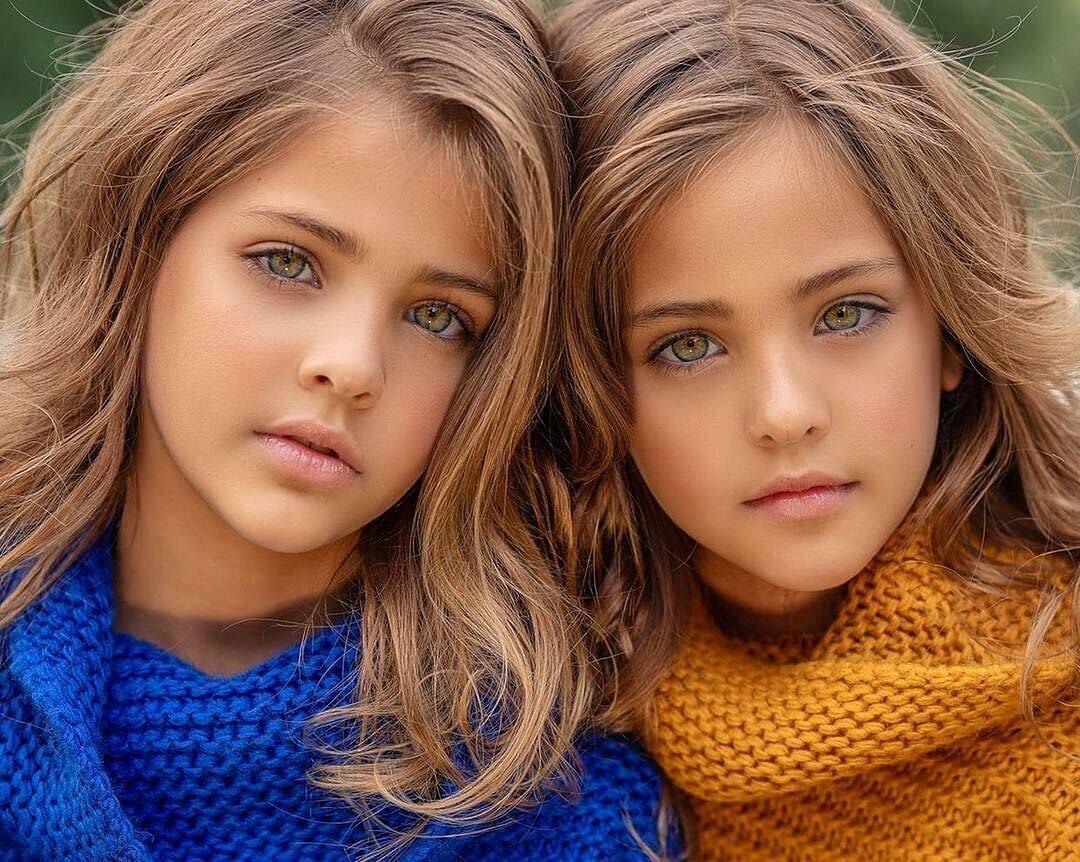 Две девочки красивые