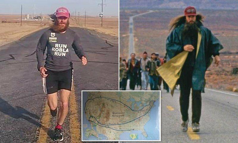 У фильма Форест Гамп много поклонников. Мужчина из Ливерпуля пробежал по маршруту Форреста Гампа индийские фильмы, индия, интересное, кино, пересняли, форест гамп, фото