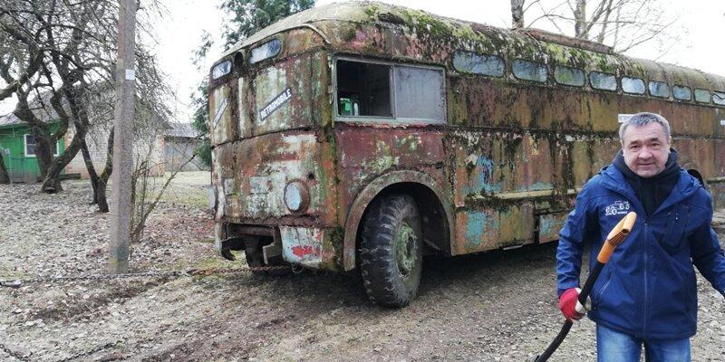 В Литве найден троллейбус МТБ-82Д МТБ-82Д, находка, троллейбус