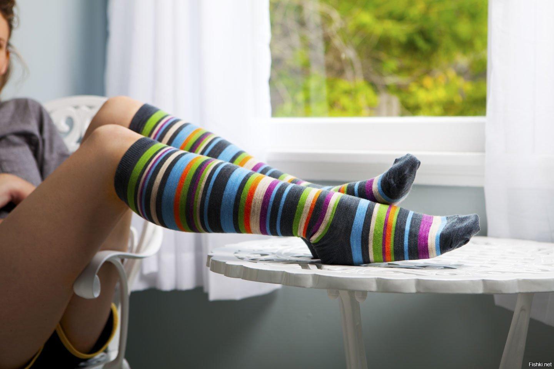 Sexy nude women in socks
