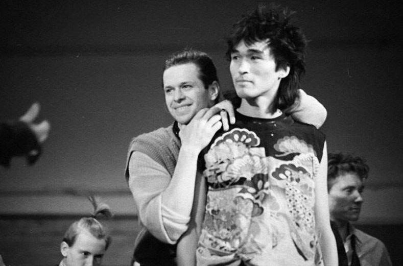 18. Виктор Цой и Борис Гребенщиков, 1983 год архив, исторические фото, фото, фото из прошлого