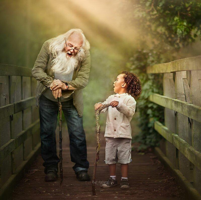 компе, старик с внуком картинки вязаный
