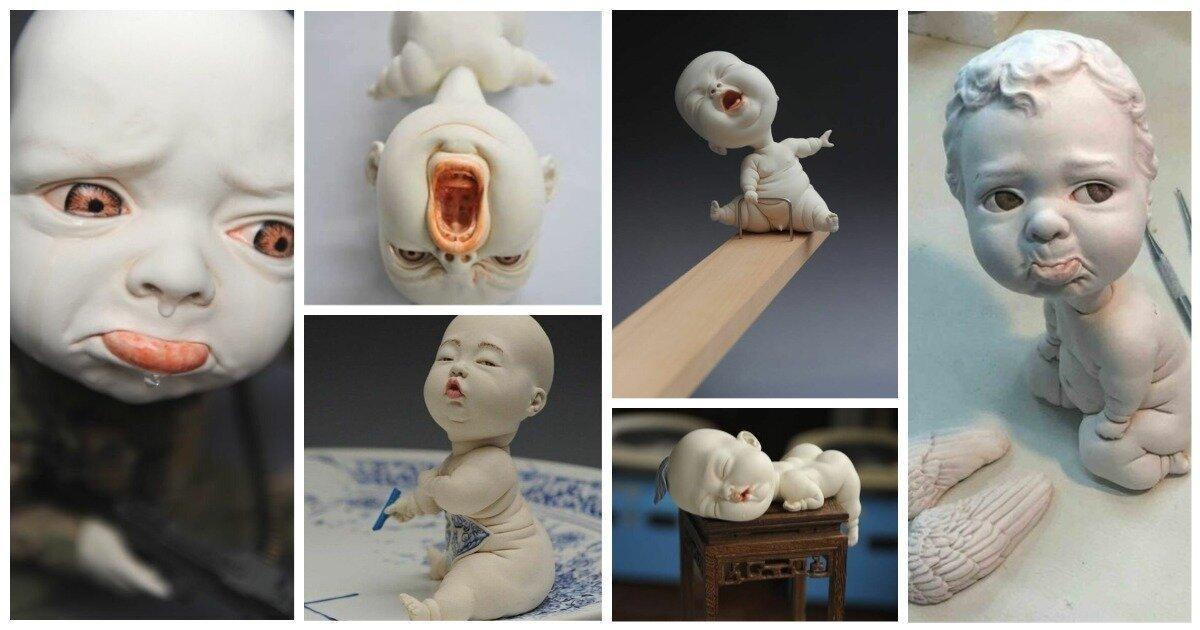 Пластичные керамические детишки, которые поднимут вам настроение