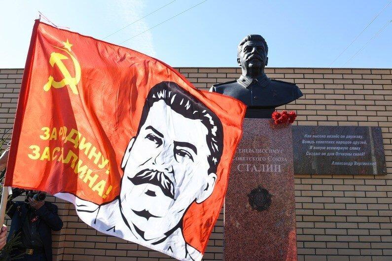 В Новосибирске установили памятник Сталину война, памятник, сталин