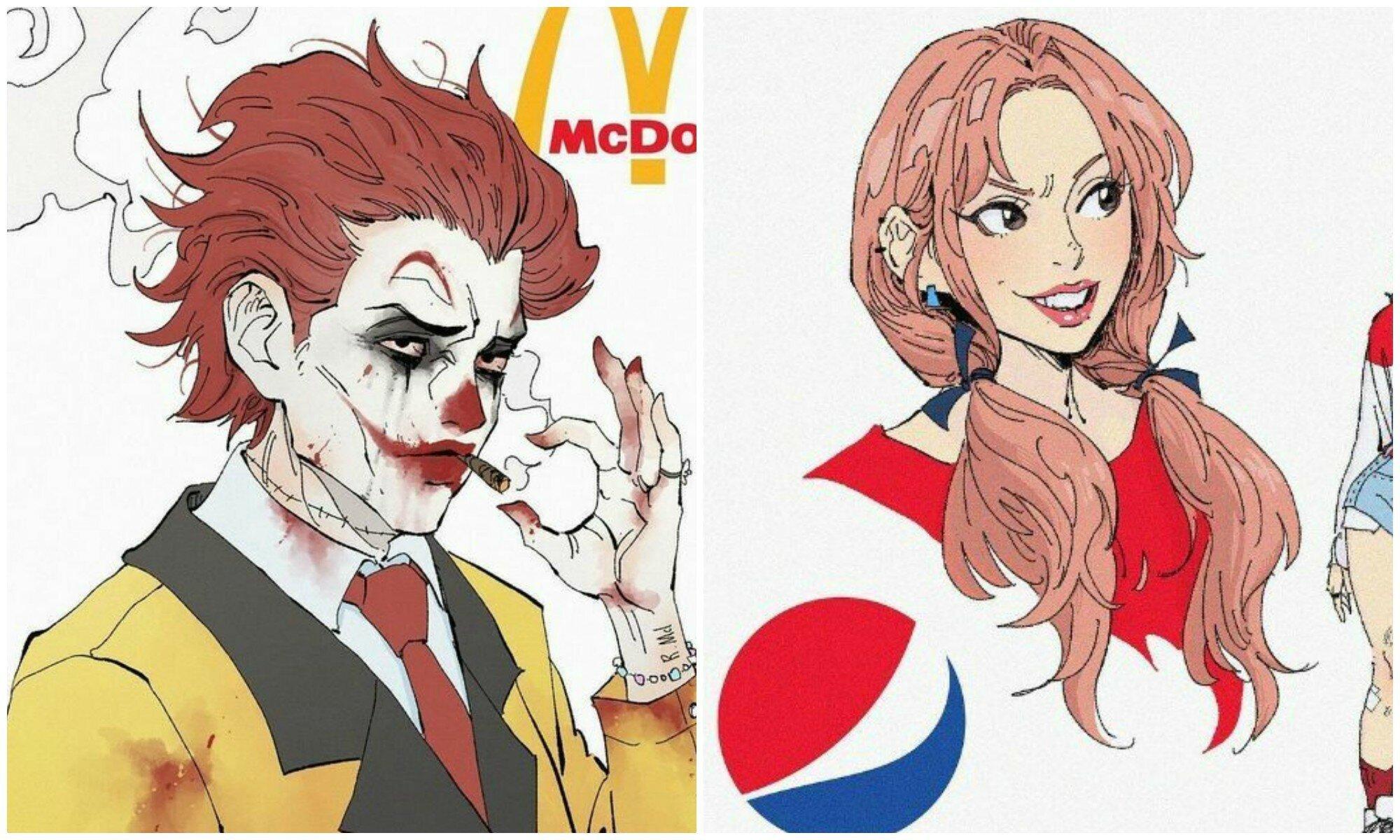 Как выглядели бы известные бренды, будь они персонажами аниме