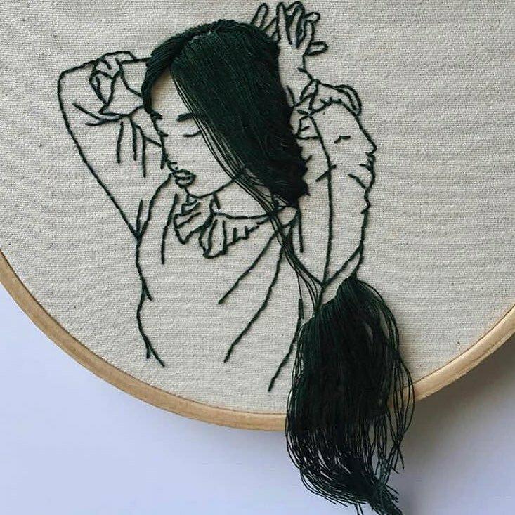 3D вышивка художницы Шины Лиам