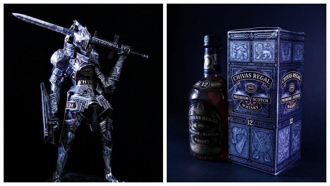 Японский дизайнер превратил упаковку виски в фигуру рыцаря