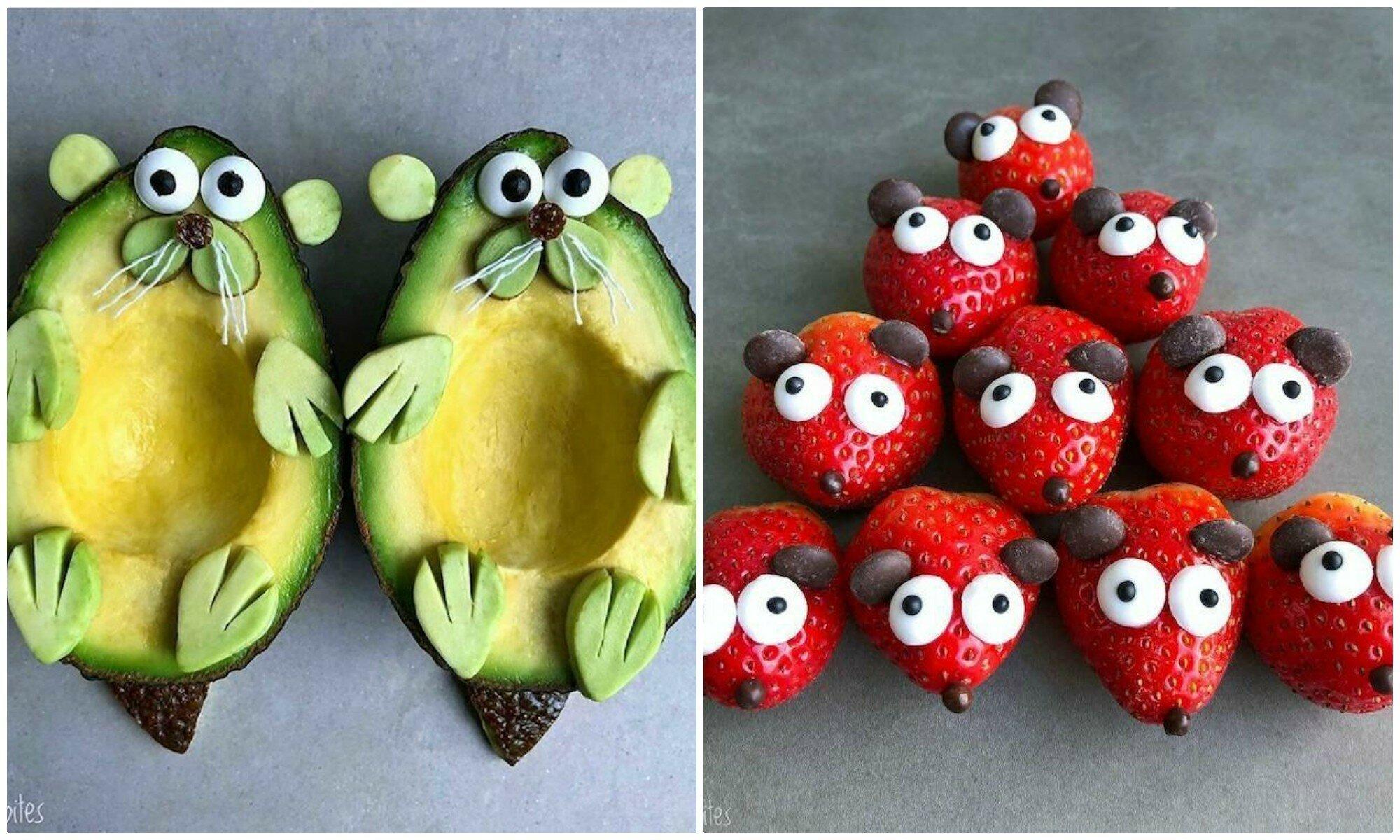 Смешные картинки поделки из фруктов