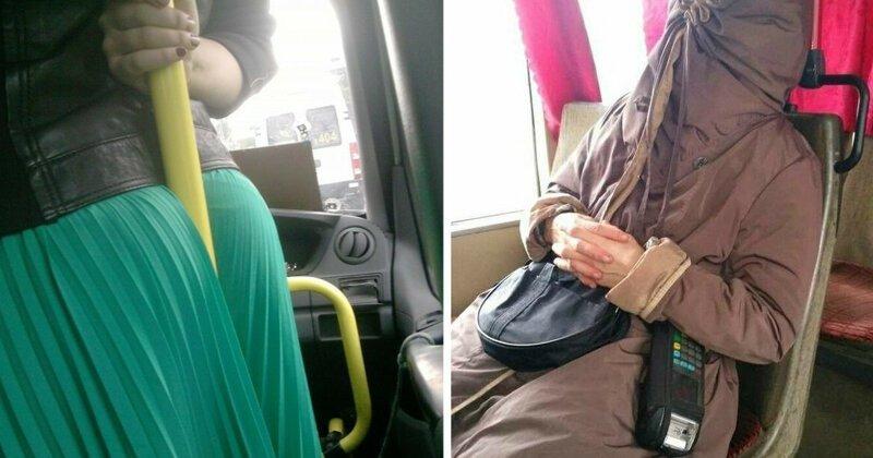 Находки подсмотры в автобусе сняли парня заставили