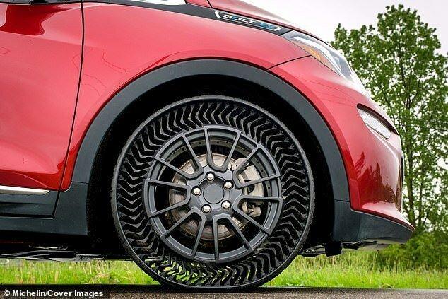 Michelin и General Motors начинают испытания безвоздушных шин general motors, michelin, авто, автоновости, безвоздушные шины, технологии, технологии будущего, шина