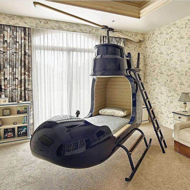 6. Детская кроватка-вертолёт от Dragons of Walton Street дизайн, дизайнеры, идея, креатив, талант, фото