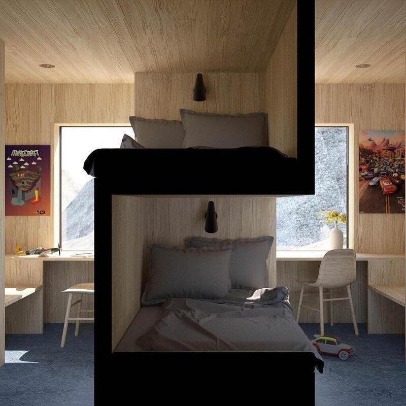 1. Спальня для близнецов от студии Vardehaugen дизайн, дизайнеры, идея, креатив, талант, фото