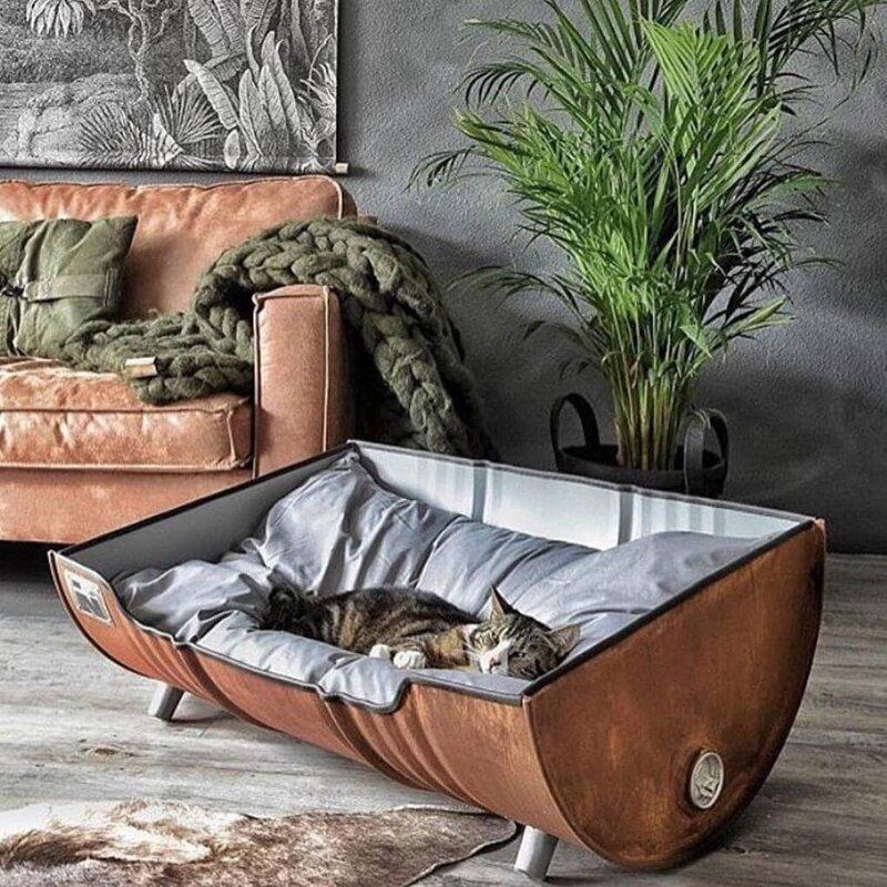 2. Кошачья кроватка из бочки от Indusigns дизайн, дизайнеры, идея, креатив, талант, фото