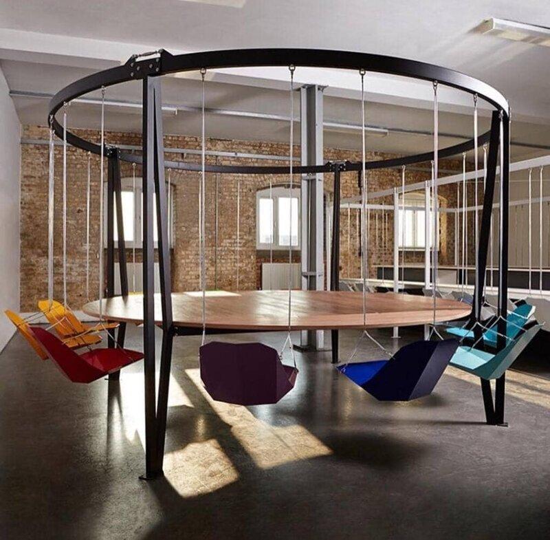 10. Круглый стол-качели от Duffy London дизайн, дизайнеры, идея, креатив, талант, фото