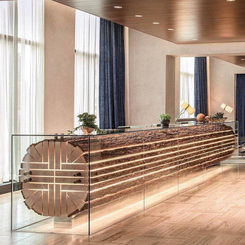 13. Стойка регистрации в отеле «The Douglas Hotel» дизайн, дизайнеры, идея, креатив, талант, фото