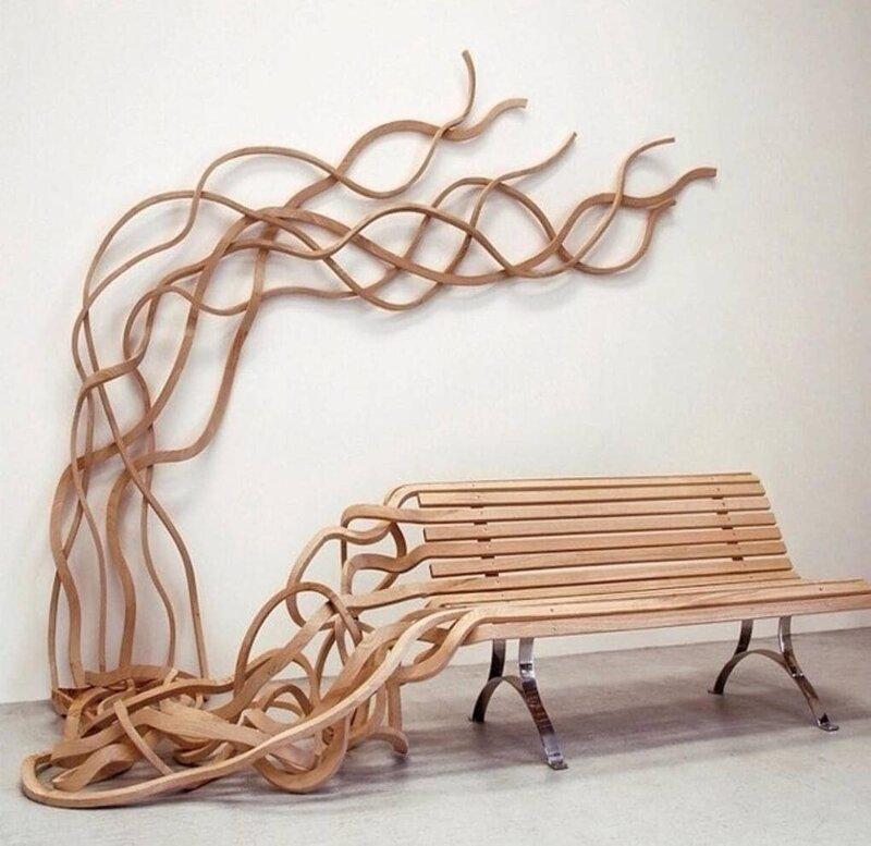 11. Скамейка-спагетти от Пабло Рейносо дизайн, дизайнеры, идея, креатив, талант, фото