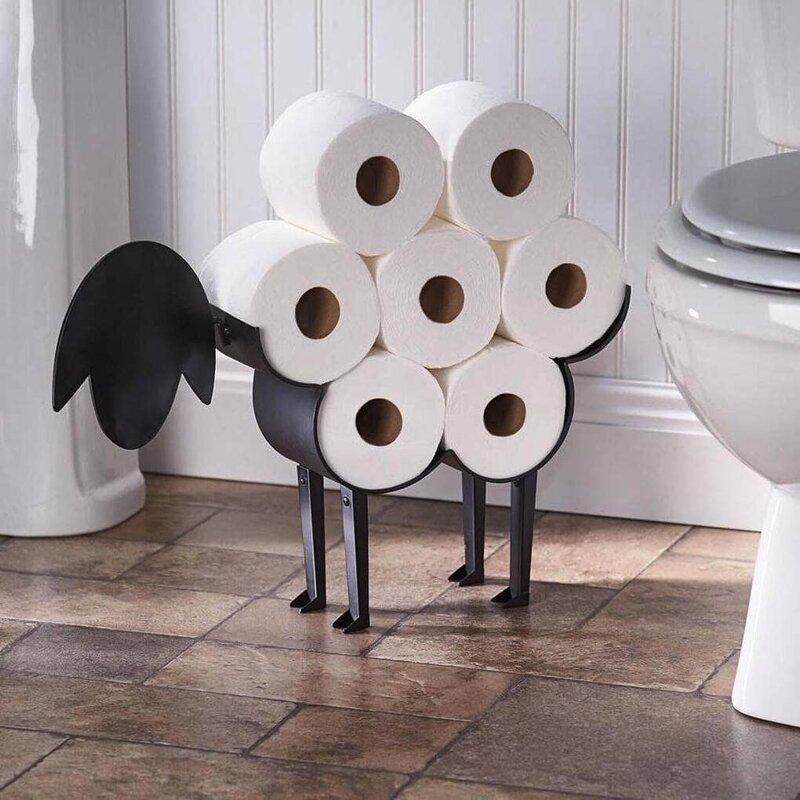 8. Держатель для туалетной бумаги в виде овечки дизайн, дизайнеры, идея, креатив, талант, фото