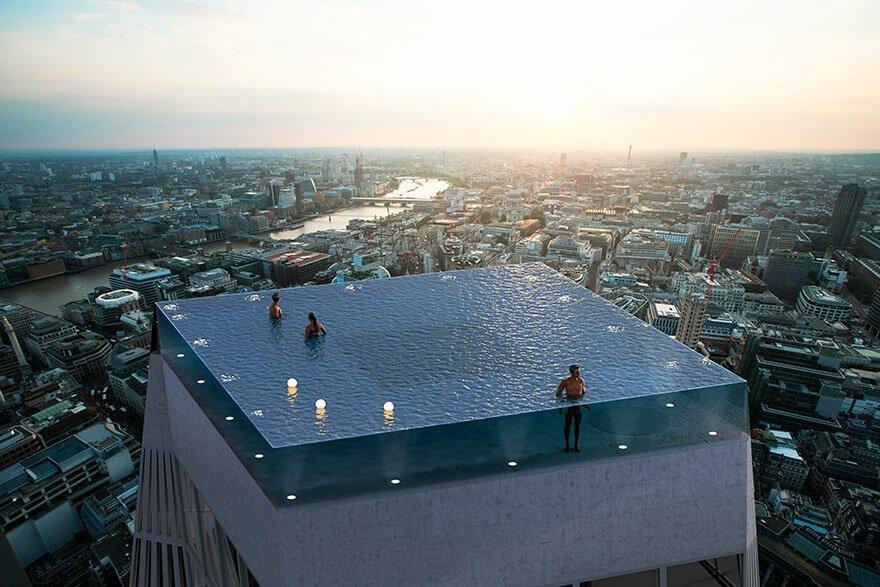 В Лондоне появится необыкновенный высотный бассейн
