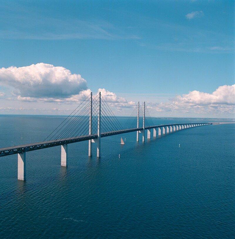 Удивительный мост-тоннель, соединяющий Данию и Швецию путешествия, факты, фото
