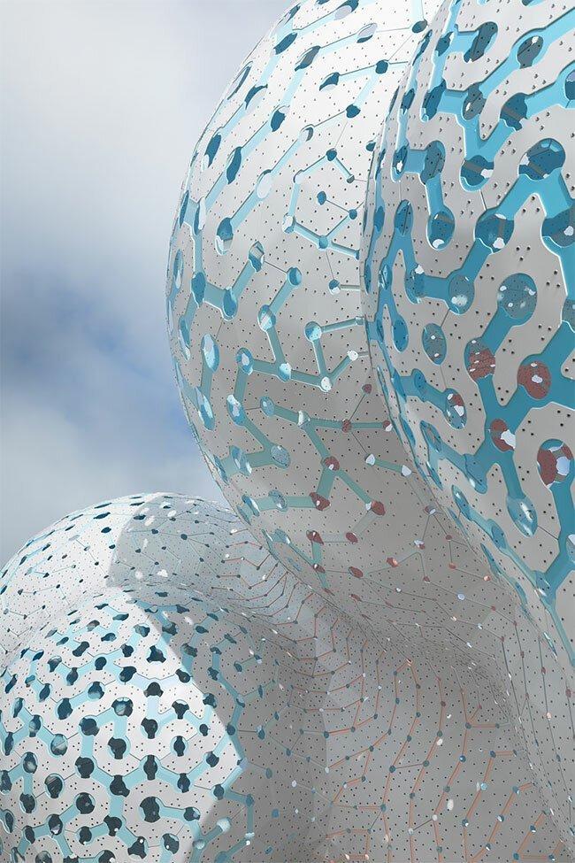 """""""Столпы мечтаний"""": скульптура-облако, составленная из 3000 деталей"""