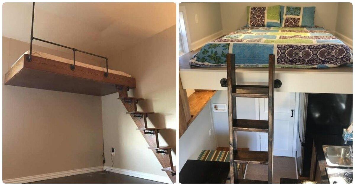 Двухэтажная комната: 20 классных примеров, как с умом использовать небольшую спальню