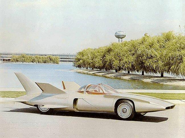 Фантастический автомобиль General Motors Firebird III 1958 года выпуска