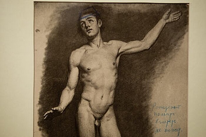 Special exhibition of stalin's nude drawings hobby