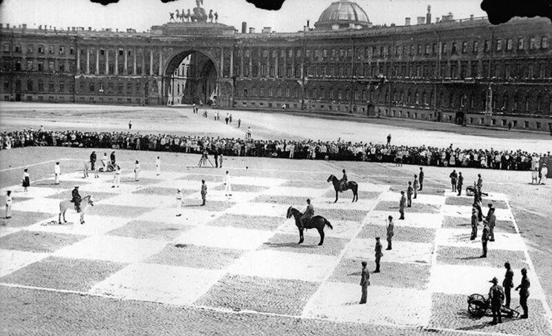 12. Живые шахматы в Ленинграде, 1924 год интересно, исторические фото, история, фото, фото из прошлого