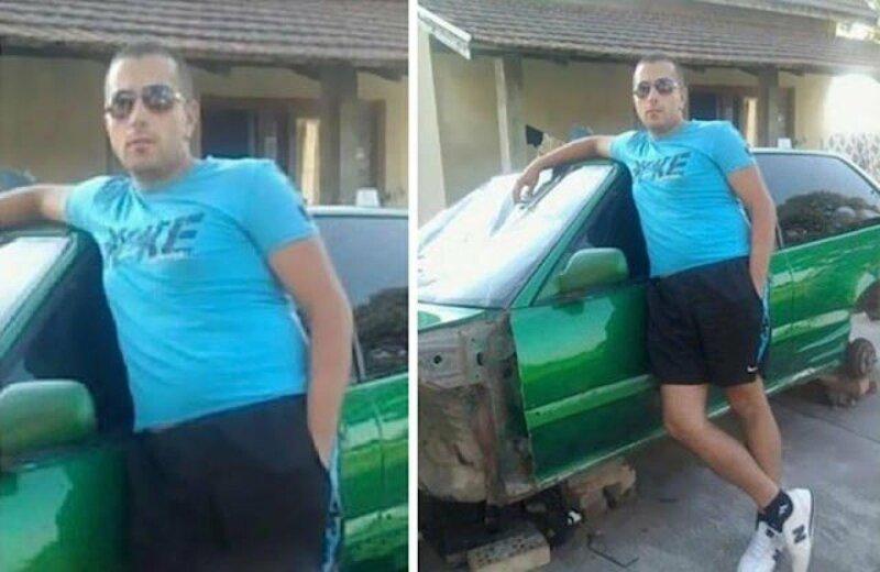 зеленое авто