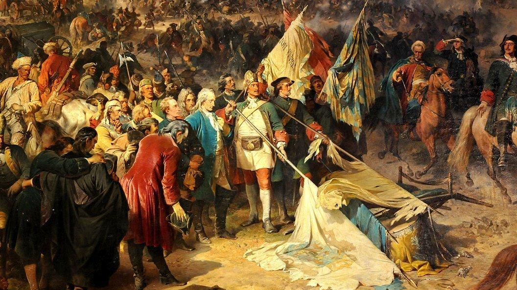 Полтавская битва в картинах художников