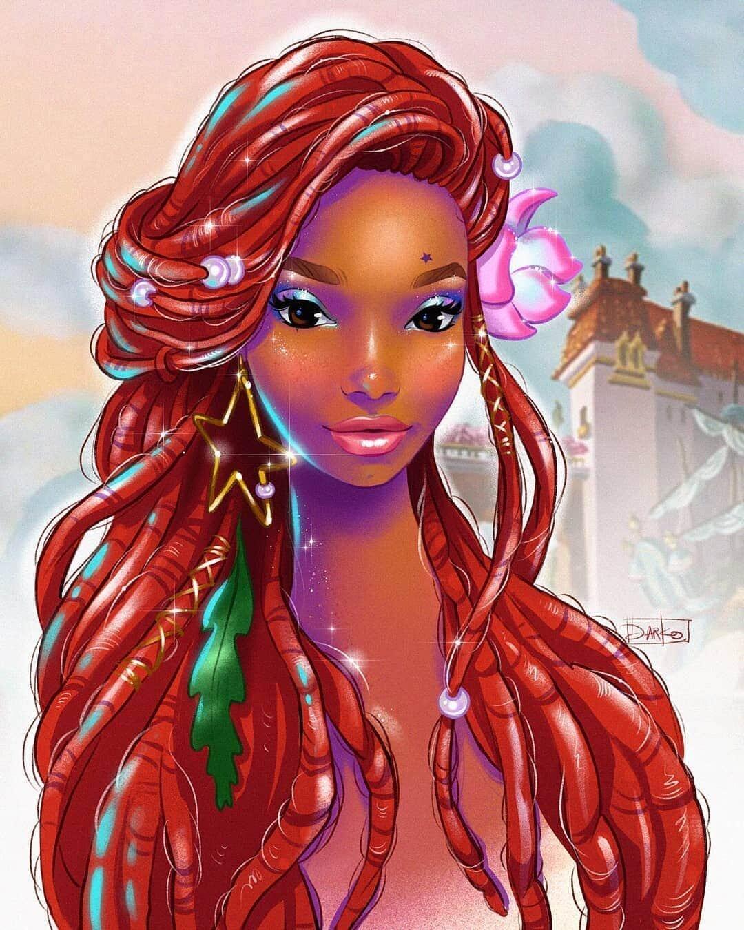 Художники со всего мира представили, как будет выглядеть темнокожая русалочка Ариэль в новом фильме