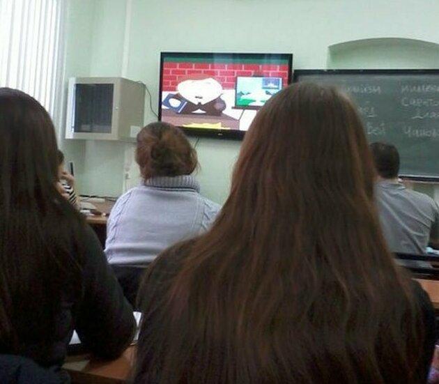 Препод рассказывал о саентологах и включил обучающее видео Города России, Томская область, прикол, сибирь, томск, юмор