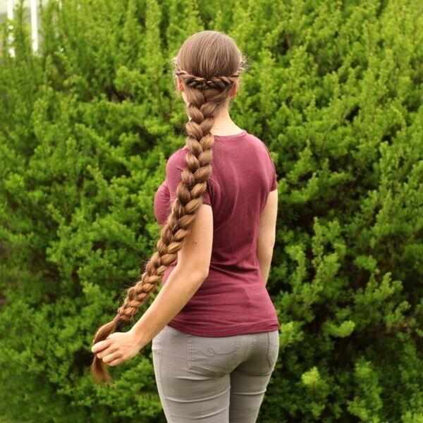 Длинная коса до жопы, заказать интим стрижку на дом