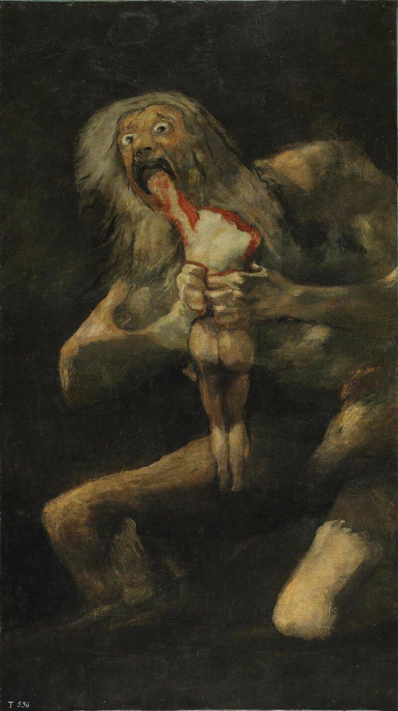 Самая тревожная картина: «Сатурн, пожирающий своего сына» Франсиско Гойи Гойя, живопись, искусство, история, мифология