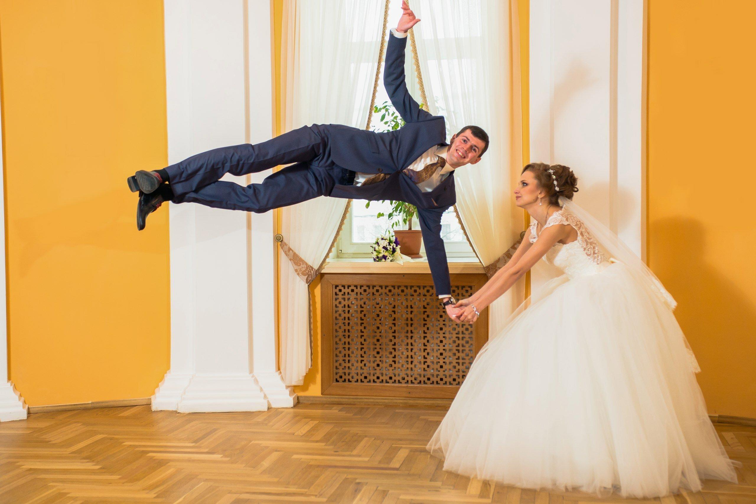прикольное фото свадьбы новые