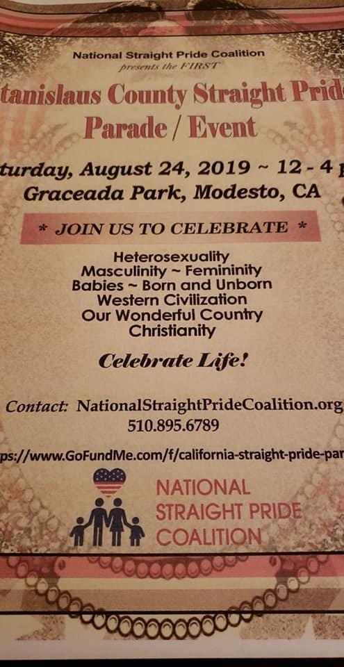 В Калифорнии натуралам запретили провести парад гетеросексуальности и христианства Straight Pride, ynews, Модесто, калифорния, лгбт, парад натуралов
