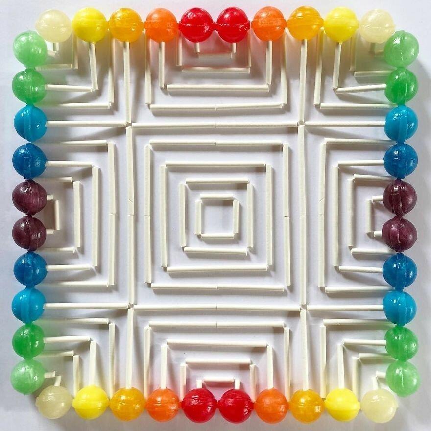 Еда как арт-объект: геометрические узоры от Адама Хиллмана
