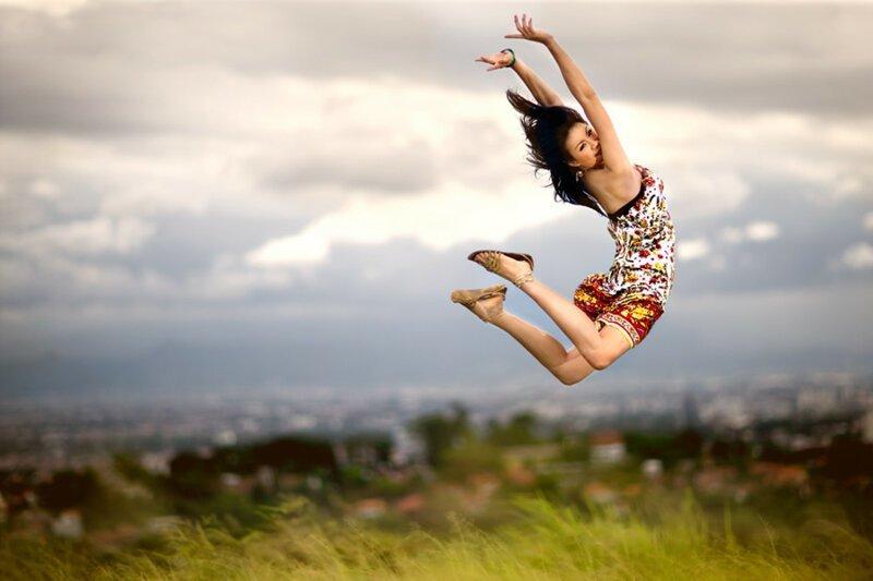 Идеи для фото в прыжке