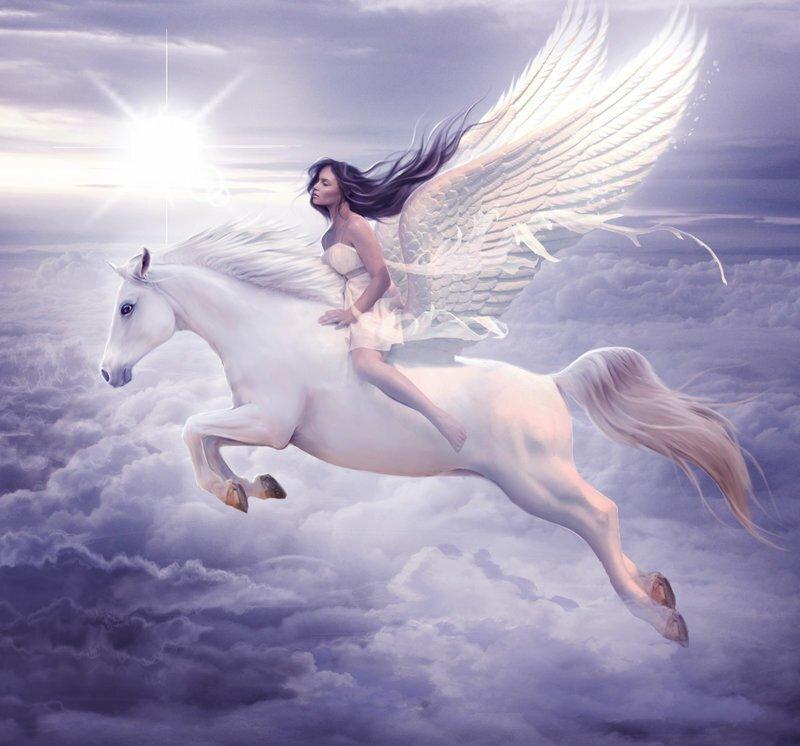 Ангел и единорог картинки