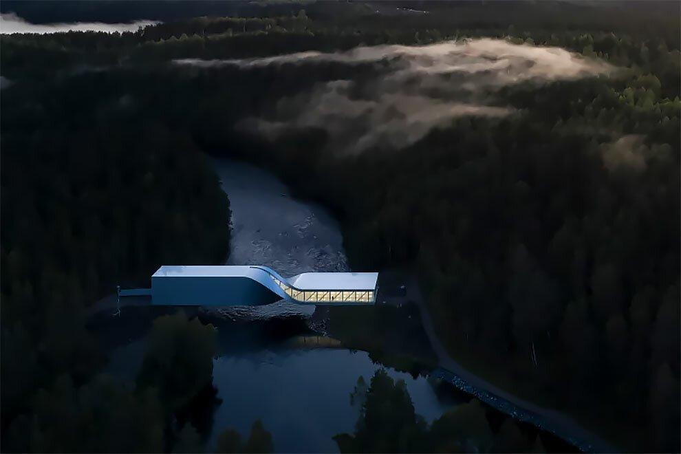 """В Норвегии открылся """"скрученный"""" музей-мост"""
