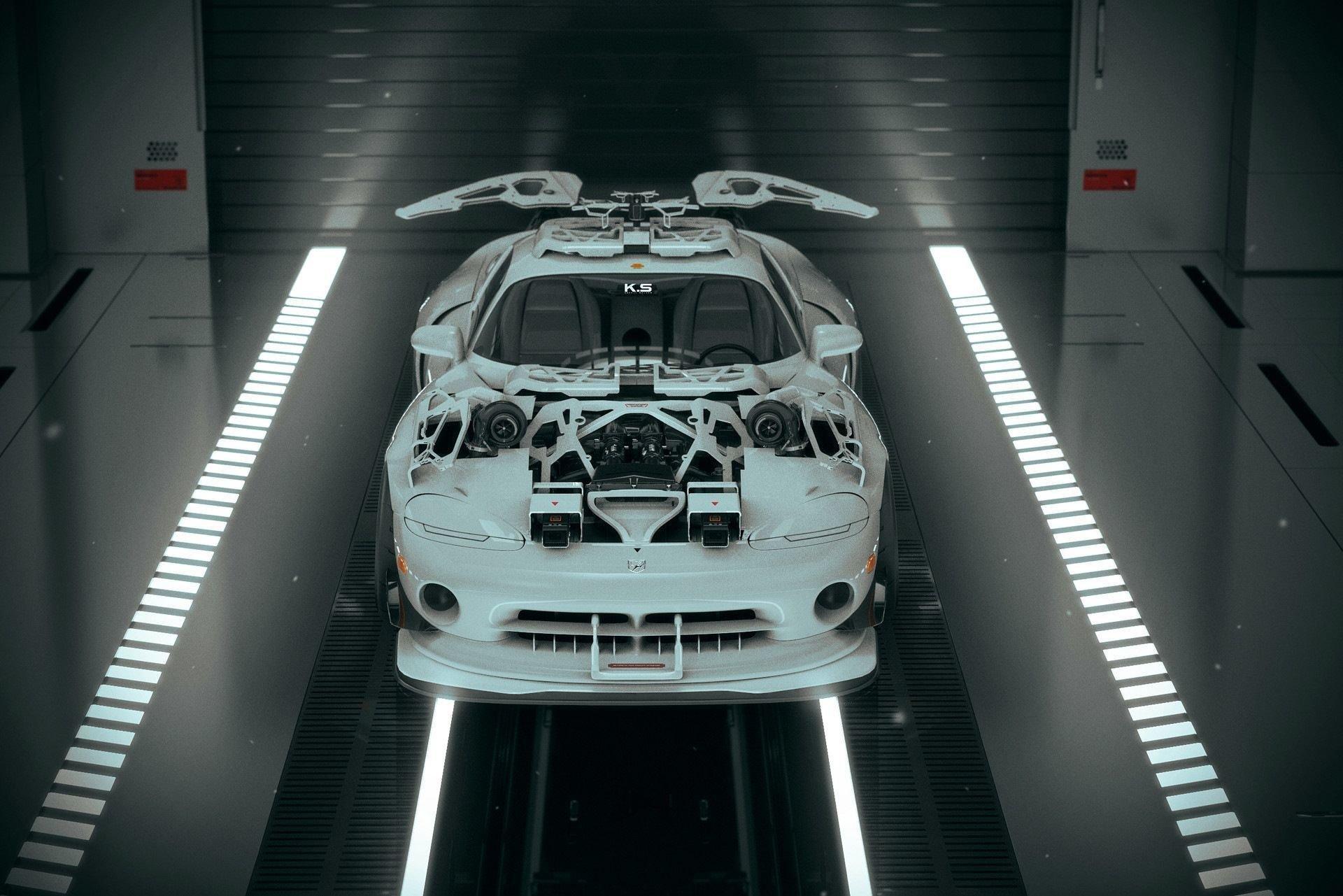 Он нарисовал Need For Speed: четырехколесный киберпанк Хайзала Салима