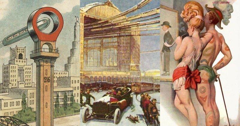 Букеты, москва будущего открытки 1908