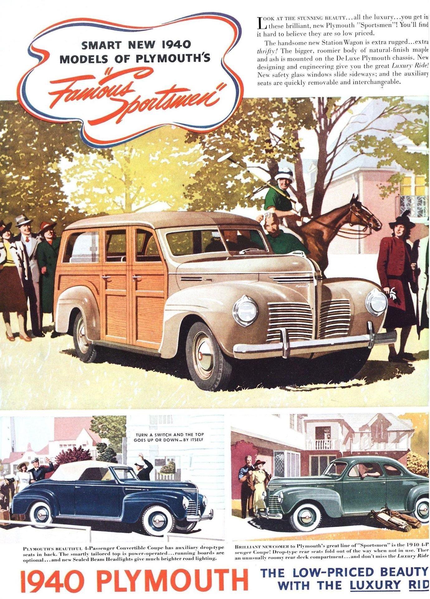Довоенные рекламные листовки автомобилей Plymouth