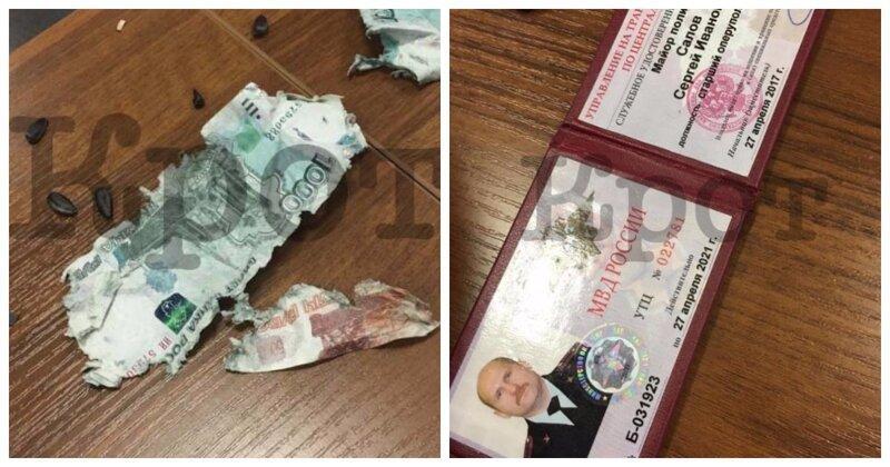 Майор транспортной полиции съел взятку и закусил семечками
