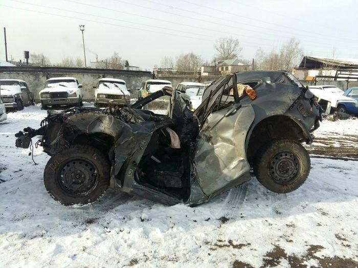 От полученных травм водитель скончался на месте происшествия.